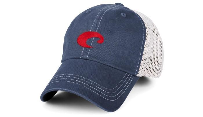 COSTA Costa Del Mar Mesh Hat Stone Slate Blue