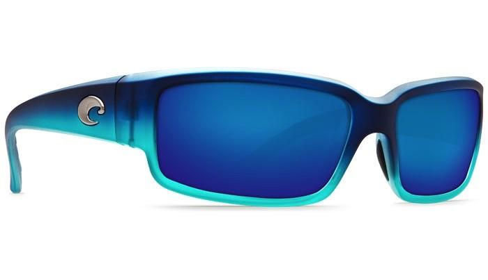 COSTA Costa Del Mar Caballito Matte Caribbean Fade Blue Mirror Polarized Plastic Sunglasses