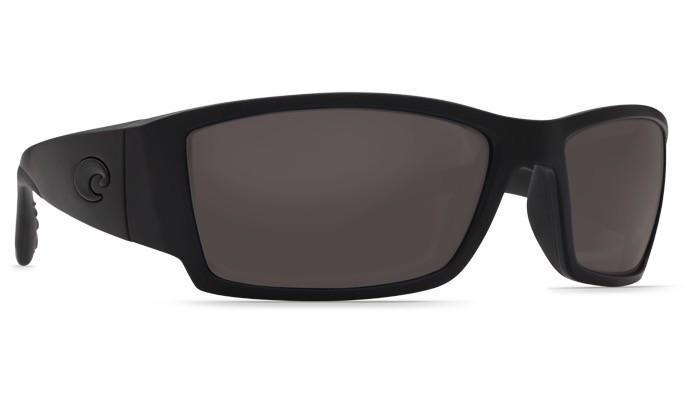 COSTA Costa Del Mar Corbina Blackout Gray Polarized Plastic Sunglasses
