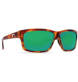 COSTA Costa Cut Honey Tortoise Green Mirror Polarized Plastic Sunglasses