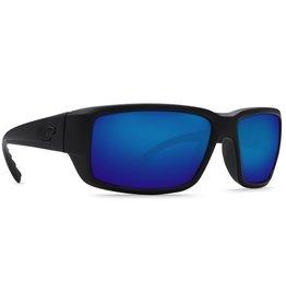 COSTA Costa Del Mar Fantail Blackout Blue Mirror Polarized Glass Sunglasses