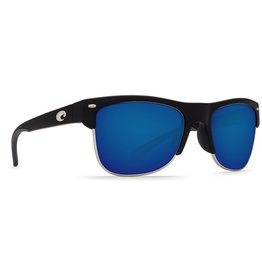 COSTA Costa Pawleys Sunglasses Matte Black Blue Mirror Polarized Plastic