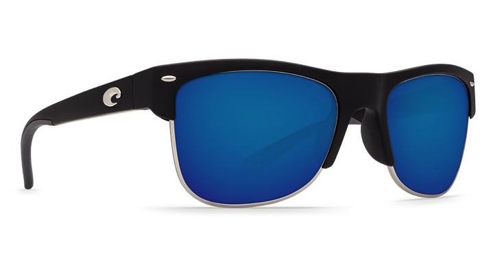 COSTA Costa Pawleys Sunglasses Matte Black Blue Mirror Polarized Plastic