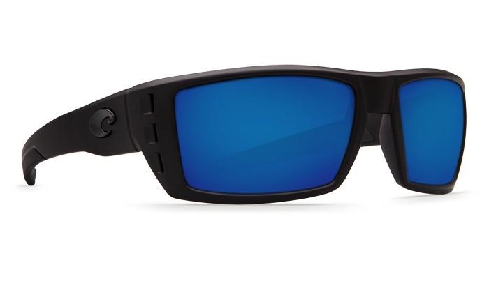 COSTA Costa Del Mar Rafeal Blackout Sunglasses Blue Mirror Polarized Glass