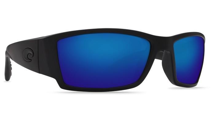 COSTA Costa Del Mar Corbina Blackout Blue Mirror Polarized Glass Sunglasses