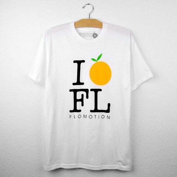 Flomotion I Orange FL - Crew Neck White