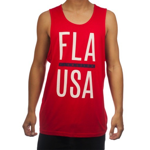 Flomotion Flomotion Fla USA Tank Top Red