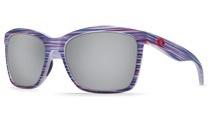 COSTA Costa Del Mar Anaa Limited Edition USA Teak Silver Mirror Sunglasses