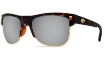 COSTA Costa Del Mar Pawleys Retro Tortoise Silver Mirror Plastic Sunglasses