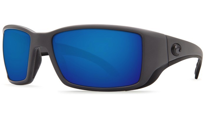 COSTA Costa Del Mar Blackfin Matte Gray Blue Mirror 580G Sunglasses