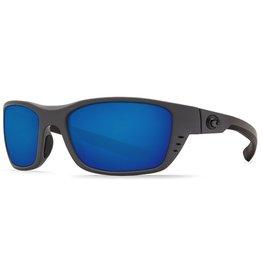 d7bd7e03e79dc COSTA Costa Del Mar Whitetip Matte Gray Blue Mirror 580G Sunglasses