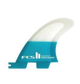 FCS FCS II Performer PC Carbon Quad Rear Teal Large Surfboard Fins