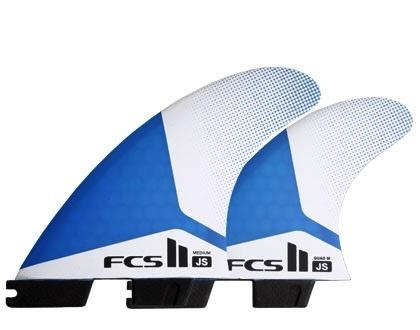 FCS FCS II JS PC Medium Tri-Quad Surfboard Fins