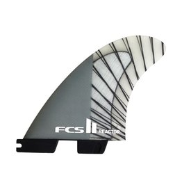 FCS FCS II Reactor PC Carbon Charcoal Medium Thruster Surfboard Fins