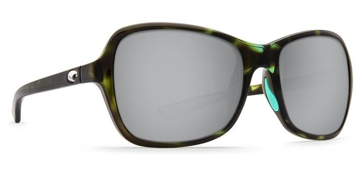 COSTA Costa Del Mar Kare Shiny Kiwi/Tortoise Copper Silver Mirror Sunglasses