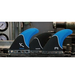 Futures Fins Lost Large Honeycomb 5-Fin Blue/Smoke/Carbon Surfboard Fin Set