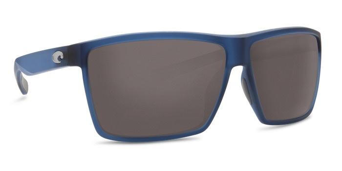 COSTA Costa Del Mar Rincon Matte Atlantic Blue Frame Gray 580 Glass Polarized Lenses