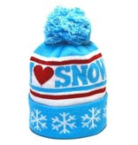 YOCO KIDS I HEART SNOW BEANIE - AGES 2-7 YEARS