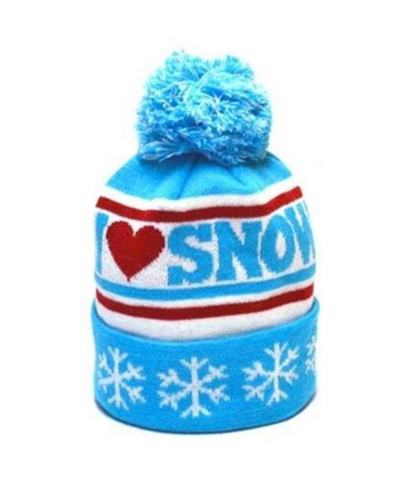 KIDS I HEART SNOW BEANIE - AGES 2-7 YEARS