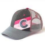 ADULT INCLINE COLORADO TRUCKER HAT - PINK PUNK