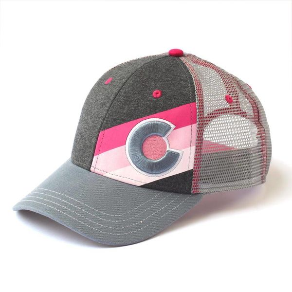 ADULT INCLINE COLORADO TRUCKER HAT - PINK PUNK