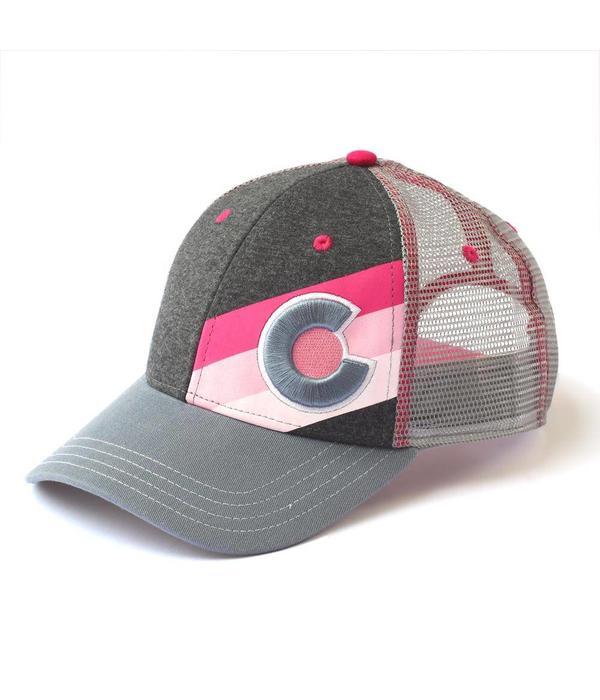 YOCO ADULT INCLINE COLORADO TRUCKER HAT - PINK PUNK