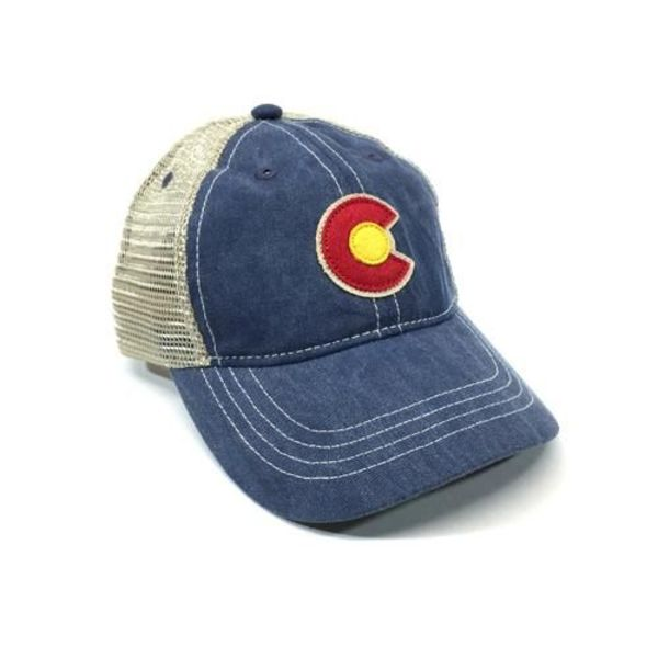 KIDS (3-7Y) VINTAGE DENIM C TRUCKER HAT