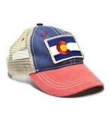 YOCO KIDS (3-7Y)  VINTAGE COLORADO FLAG TRUCKER HAT