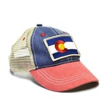 KIDS (3-7Y)  VINTAGE COLORADO FLAG TRUCKER HAT