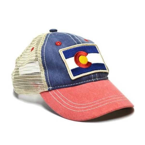 KIDS (3-7Y)  VINTAGE COLORADO FLAG TRUCKER HAT