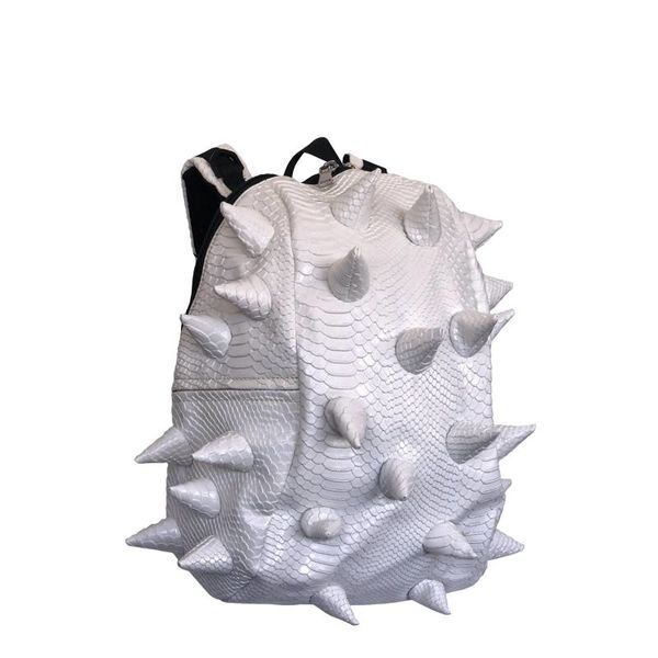 WHITE ON BABY SPIKETUS-REX LUXE HALF-SIZE BACKPACK