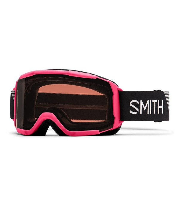 SMITH DAREDEVIL OTG GOGGLE - CRAZY PINK STRIKE WITH RC36 LENS - SIZE YOUTH MEDIUM
