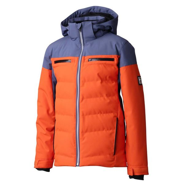 JUNIOR BOY'S LEONIE JACKET - ORANGE/GREY/BLACK