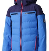 DESCENTE JUNIOR BOY'S LEONIE JACKET - BLUE/NAVY/RED