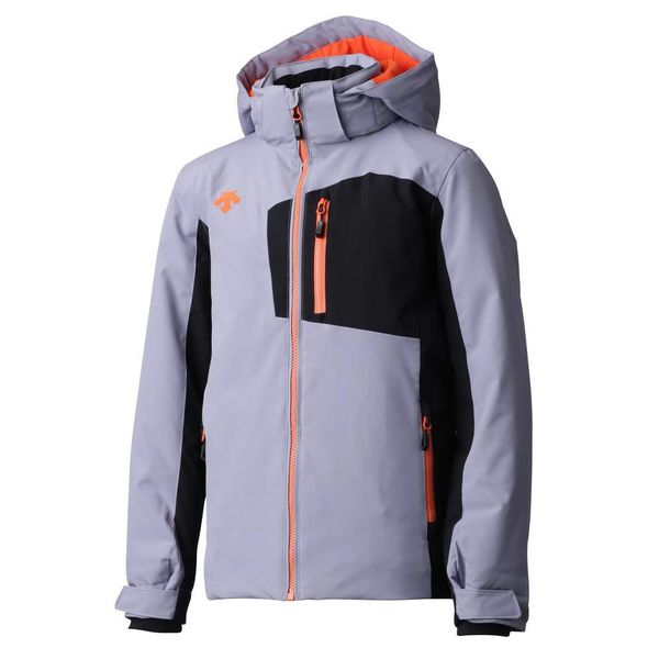 JUNIOR BOY'S KAI JACKET - GREY/BLACK/ORANGE