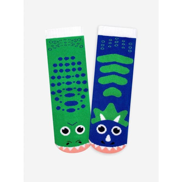 T-REX & TRICERATOPS SOCKS - 4-8 YEARS