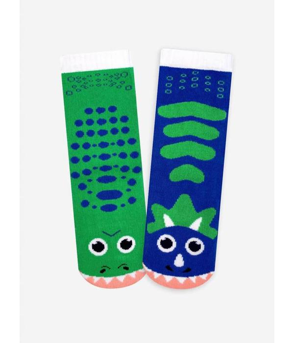 PALS T-REX & TRICERATOPS SOCKS - 4-8 YEARS