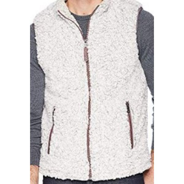 FROSTED TIP DOUBLE UP VEST - HEATHER