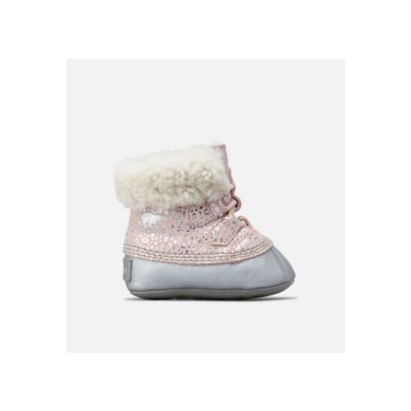 BABY CARIBOOTIE - DUSTY PINK - SIZE 1 ONLY