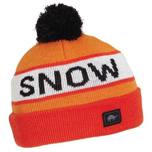 TURTLE FUR KIDS THINK SNOW HAT - ORANGE