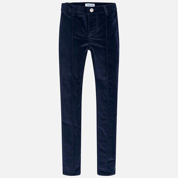 JUNIOR GIRLS SKINNY FIT TROUSERS - NAVY