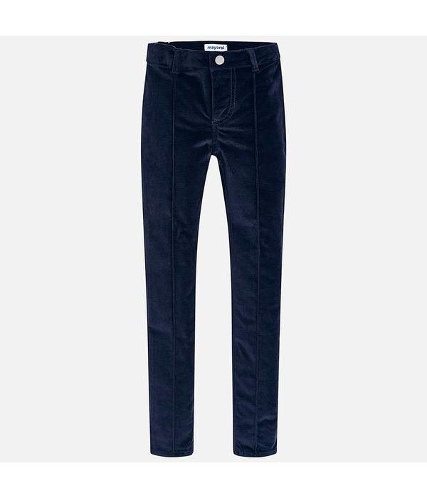 MAYORAL JUNIOR GIRLS SKINNY FIT TROUSERS - NAVY