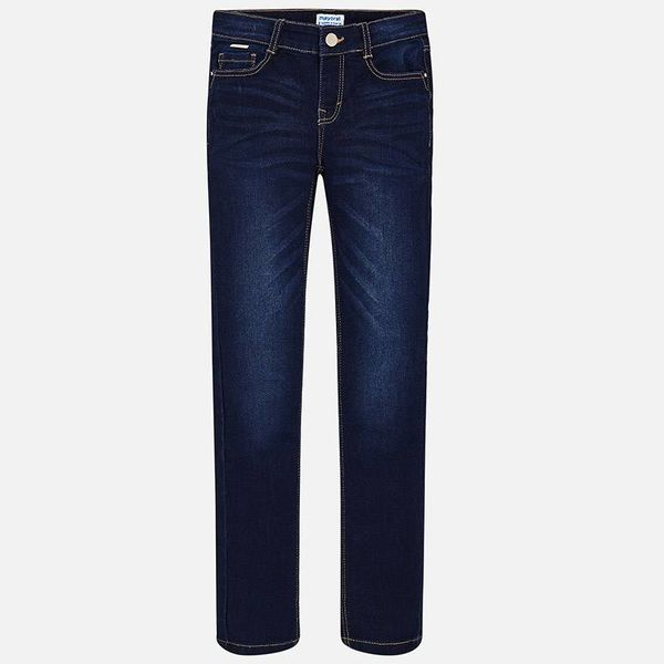 JUNIOR GIRLS DENIM TROUSERS - DARK - SIZE 16 ONLY