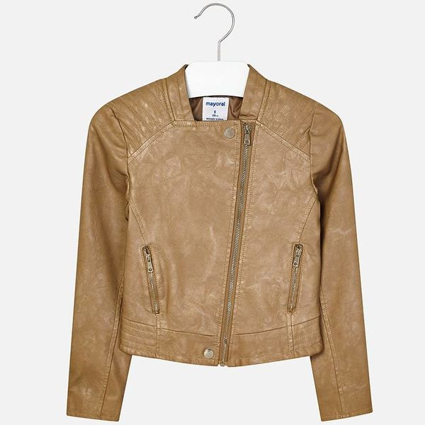 JUNIOR GIRLS LEATHERETTE JACKET - GOLDEN
