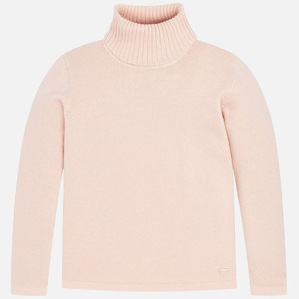PRESCHOOL GIRLS TURTLENECK JUMPER - NUDE