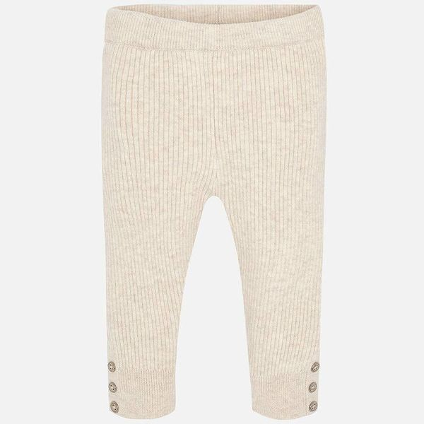 INFANT GIRLS KNIT LEGGINGS - LINEN