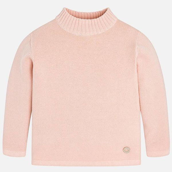 INFANT GIRLS KNIT JUMPER WITH MOCK TURTLENECK - BLUSH