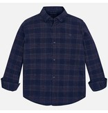 MAYORAL JUNIOR BOYS CHECKED LONG SLEEVED SHIRT - NAVY