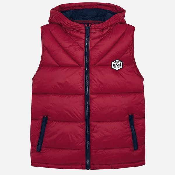 JUNIOR BOYS PADDED GILET VEST - CERISE