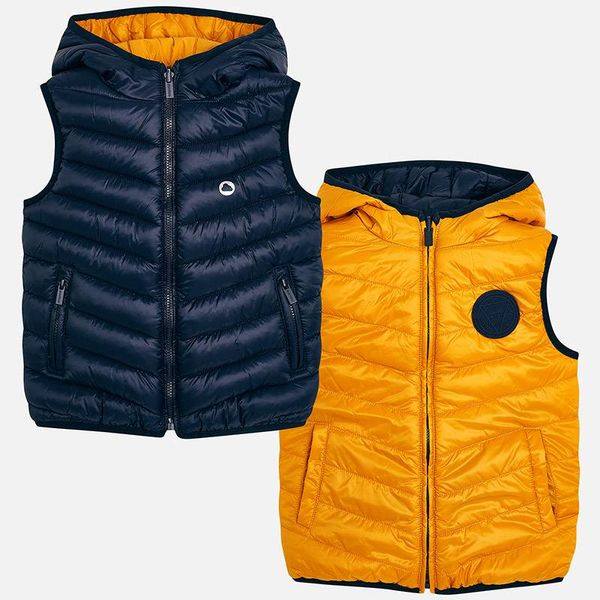 PRESCHOOL BOYS PADDED REVERSIBLE VEST - HONEY